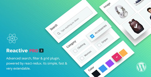 CodeCanyon - Reactive Pro v4.0.6.4.1 - Advanced WordPress Search Filter Map & Grid - 17425763