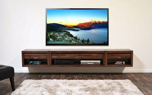 Как оформить стену где висит телевизор