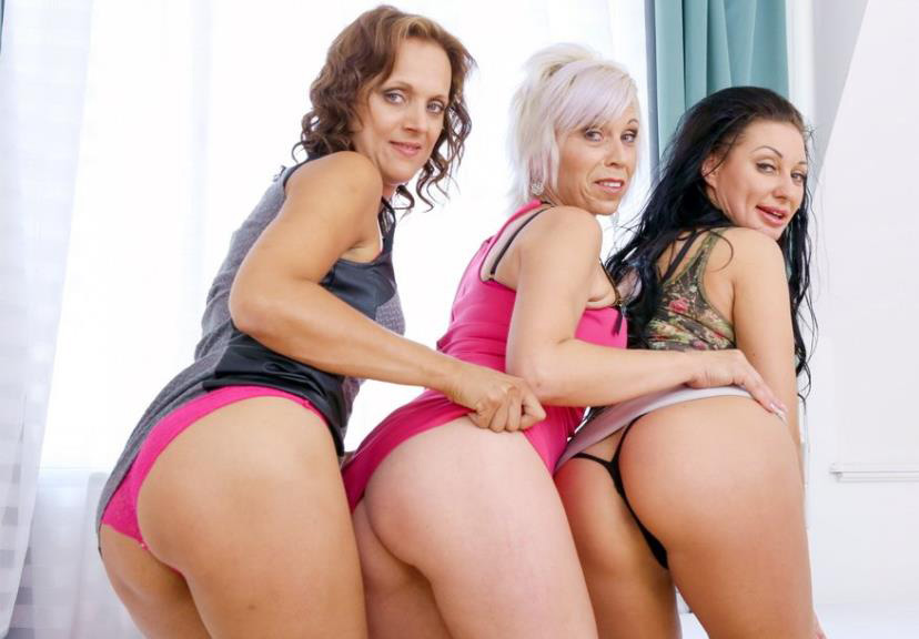 Kathy White, Eva Ann And Sofie In Kinky Milf Interracial Orgy 4 On 3 DP IV013 - Kathy White, Eva Ann, Sofie [2016 / HD]