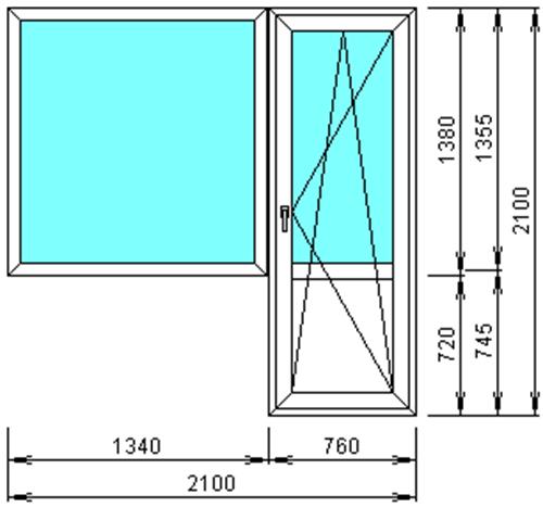 Размеры китайских металлических дверей