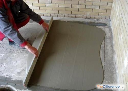 Как залить бетонные полы