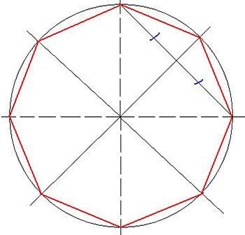Беседка восьмигранная чертеж