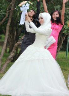 Длинные платья с длинными рукавами исламские. Фото, новинки моделей