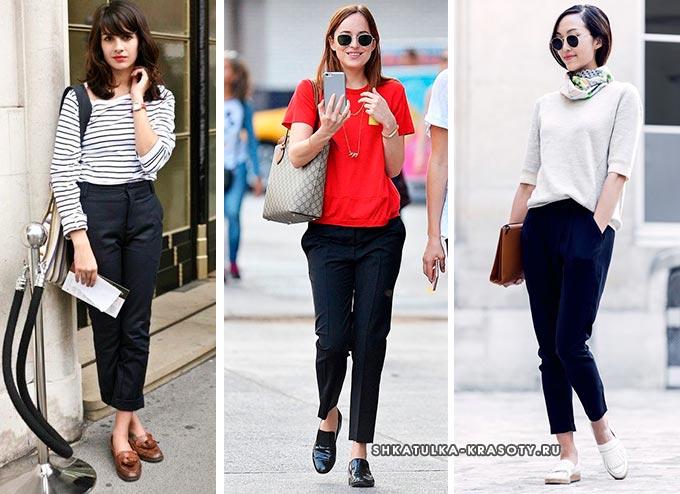 Как носить лоферы с джинсами