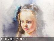 Курс акварельного портрета «Взросление» (2019)