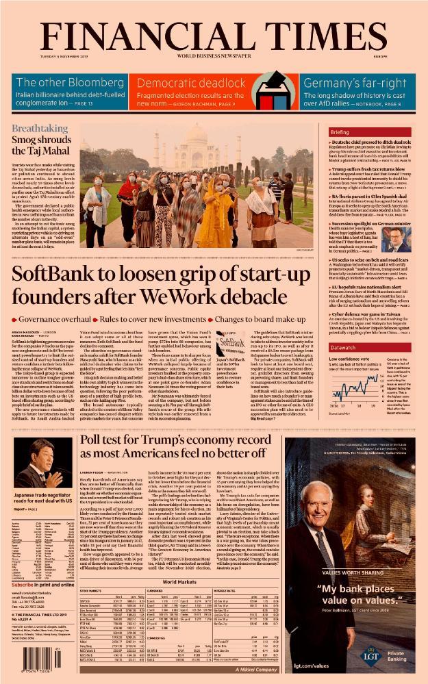 Financial Times (Europe Edition) - No 40,239 [05 Nov 2019]