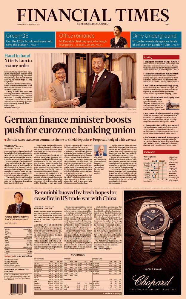 Financial Times (Asia Edition) - No 40,240 [06 Nov 2019]