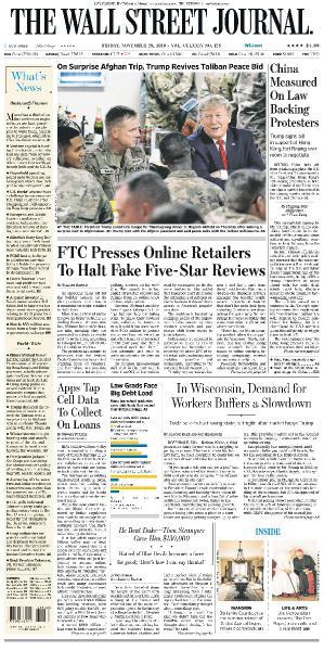 The Wall Street Journal - 29 11 (2019)