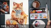 Акварельный марафон «Зимние животные». Научитесь рисовать животных в легкой экспрессивной технике (2019)