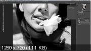Авторская художественная обработка чёрно-белой фотографии (2020) Видеоурок