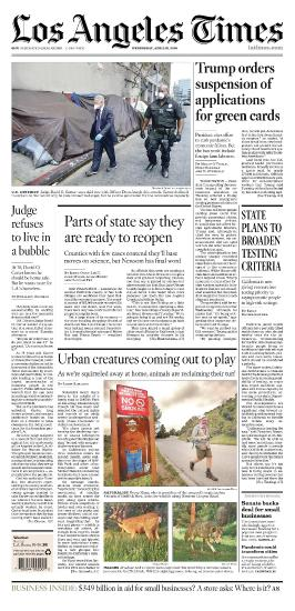 Los Angeles Times - 22 04 (2020)