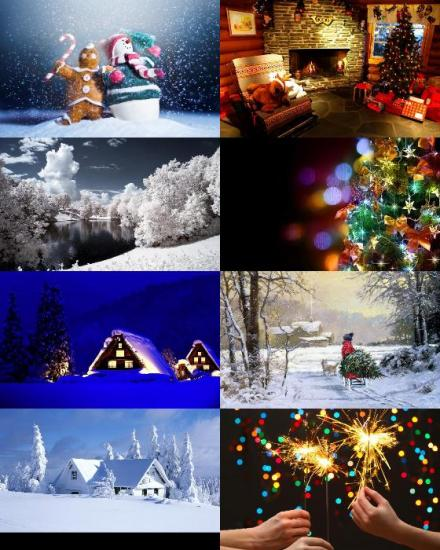 24 Christmas and New Year HD Wallpaper